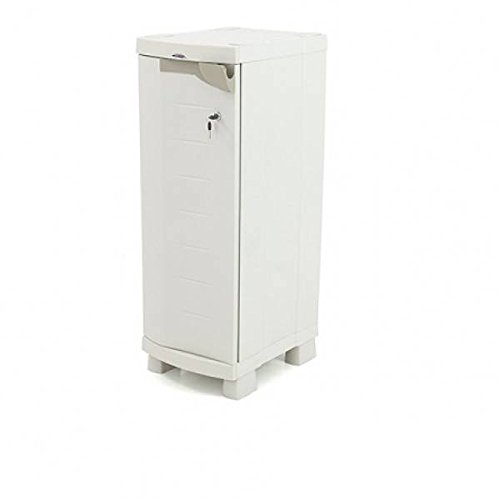 Plastiken 0005666Garderobenschrank Media Space Saver, beige, 35cm x 45cm x 100cm