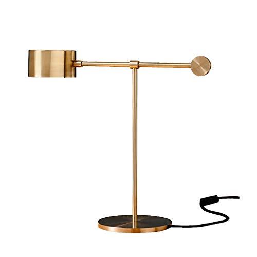 Goldene Schmiedeeiserne Tischlampe, Leselampe for Schlafzimmer, Höhe 44 cm Lampen und Beleuchtung