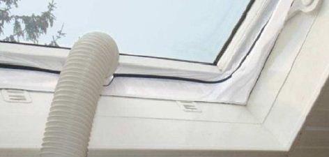 Comfee Fensterabdichtung Hot Air Stop für mobile Klimageräte und Abluft-Wäschetrockner, weiß,