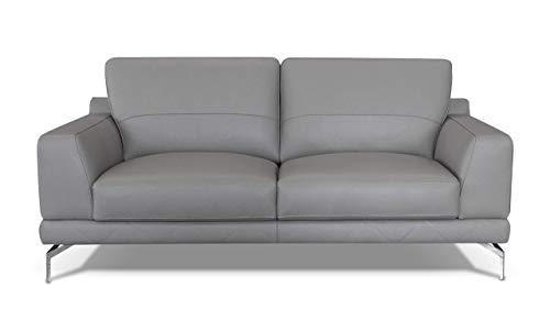 Alkove Holt Modernes Ledersofa, 2-Sitzer Maxi, HELLGRAU