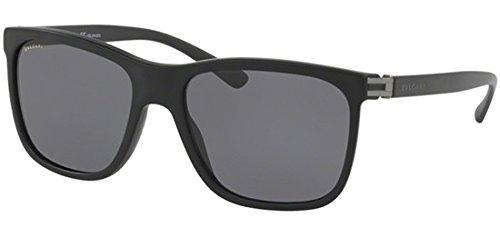 Bulgari Herren 0Bv7027 531381 57 Sonnenbrille, Schwarz (Black/Polargrey),