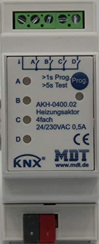 MDT® KNX / EIB Heizungsaktor 4-fach / 2TE / 24 - 230V (AC) > AKH-0400.02