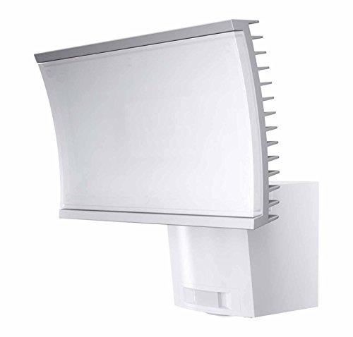 4-panel-gehäuse (Osram LED Flutlichtstrahler, Noxlite, weiß, Bewegungsmelder, Dämmerungssensor, 40 Watt, Warmweiß- 3000K 4052899918009)