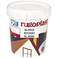Pintura Piscinas al Agua Azul / Blanco (0,750Ml, Blanco) Envío GRATIS