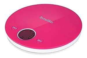 TERRAILLON Terraillon Halo Round Pink 4kg Platform Kitchen Scales,