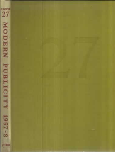 MODERN PUBLICITY 1957 - 1958. 27 th issue of art & industry´s. International annual of advertisin art