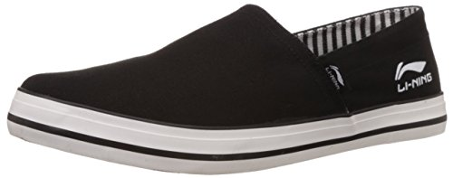 Li-Ning Men's Skipper Black Loafers - 9 UK  available at amazon for Rs.876
