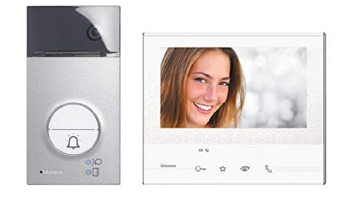 "Legrand, Flex ONE 2-Draht Videosprechanlagen Set, Classe 300 V13E mit 7"" Touchscreen Monitor, 105° Weitwinkel Kamera, Video Speicherung, IP54, IK10, 363511"