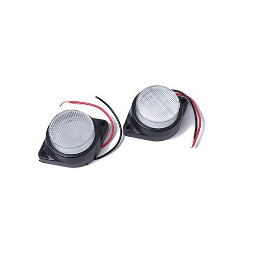 ELENXS 1Pair LED Runde Seitenspiel Begrenzungsleuchten Universal 12 24V Anhänger RV Licht