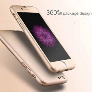 Gulwan 360 Degree Full Body Protection Front & Back Case Cover (iPaky Style) with Tempered Glass for Apple iPhone 6 (Gold)