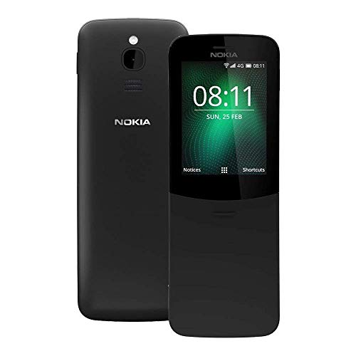 (CERTIFIED REFURBISHED) Nokia 8110 4G Phone with 2.0mp Rear Camera Black