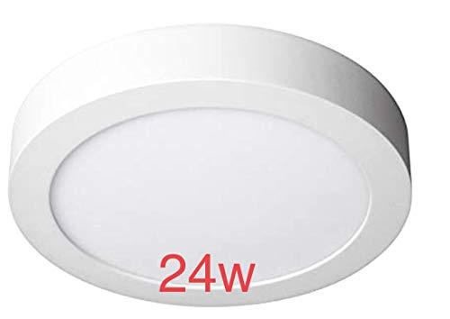 LED ATOMANT Pack 2X Plafon LED Redondo Superficie 24w, Color Blanco Frio (6500K). 2000 lumenes Reales (Diametro 300mm), 24 W