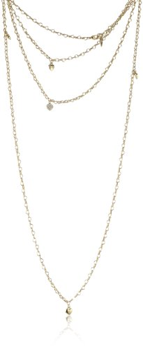 Guess Damen Halskette Metall 150.0 cm UBN80102 (Guess Halskette Damen Gold)