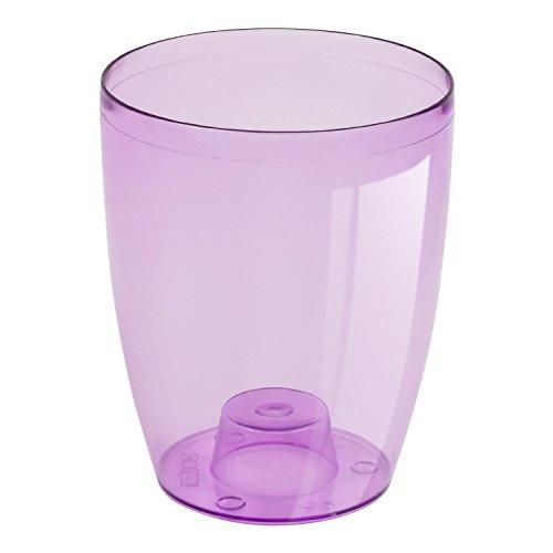 Cache pot a orchidees Coubi violet transparent 16 cm