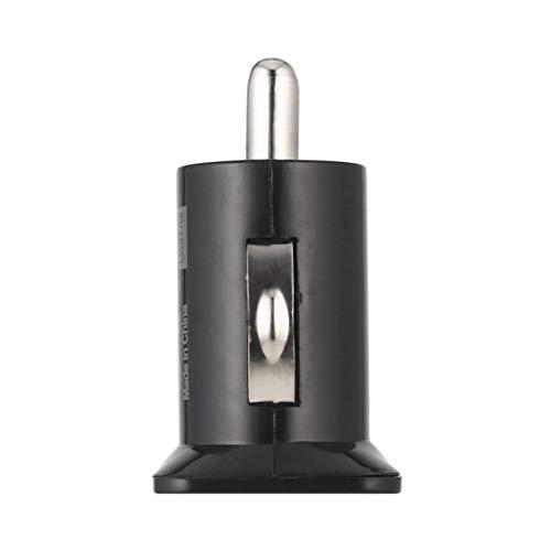 Tellaboull for Mini Caricatore per Auto Universale USB 2 caricabatteria da Auto Mini Bullet 5V 2.1A + 1A Caricabatteria da Auto per telefoni cellulari Tablet P