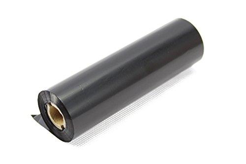 Label Metrics 110mm x 74m Nastri neri per trasferimento termico Cera grado di resina di 6. Per stampa a trasferimento termico.