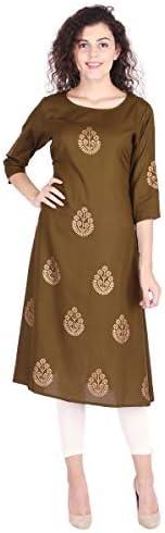 Vihaan Impex Indian Tunic Long Rayon A-Line Women Dress Partywear Kurti For Women