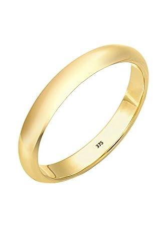Elli Premium Damen-Stapelring Ehering Klassiker 375 Gelbgold Gr. 58 (18.5) - 0612260814_58 (9 Ct Goldringe)