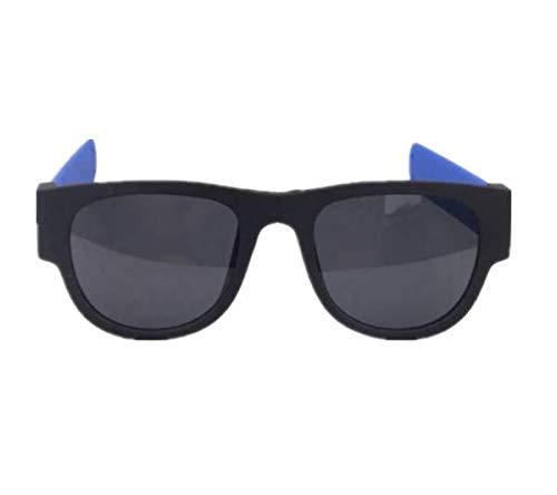 TENGGO Unisex Uv400 Polarisierte Falt Armband-Brille Kreative Sonnenbrille Mode Lustige Brillen-Blau