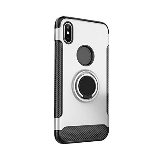Preisvergleich Produktbild happy event Fingerring Halter Stand Case Cover Schnalle Stoßstange für Apple IPhone Xs Max 6.5inch / FingerRing Holder Stand Case Cover Buckle Bumper For Apple IPhone Xs Max 6.5inch (Silber)