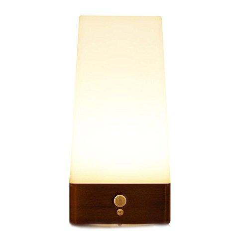 zeefo Wireless PIR & Bewegungsmelder 3Modi LED Indoor Schritt Licht batteriebetrieben Lichtempfindliche Mobile Nacht Licht Lampe Leuchte (quadratisch) Mobile Schritt