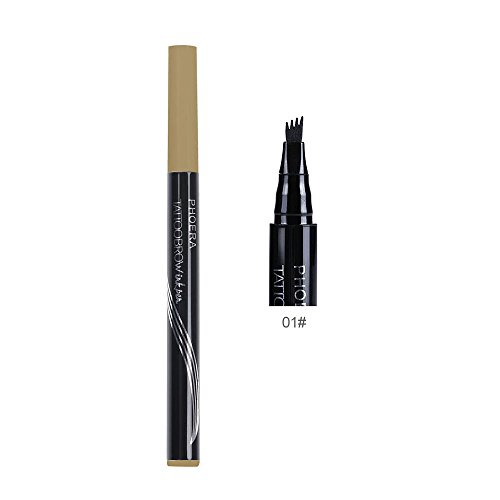 Brow Pen With Brush Long-lasting Waterproof Eyebrow Tattoo Automatic Matte Eyebrow Pencil - Brow Liner Brush