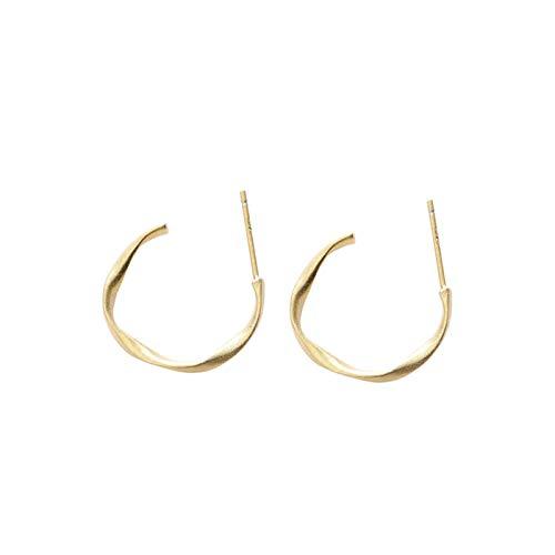 Beydodo Sterling Silber 925 Damen Ohrringe Creolen Rund Hochzeit Ohrringe Gold