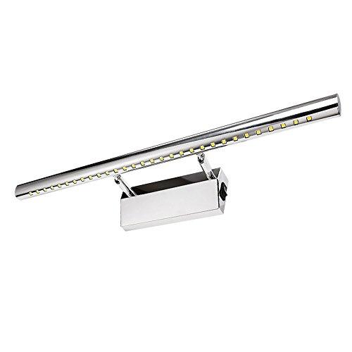 LED luces de mueble con interruptor para espejo baño salón dormitorio 7W 55cm blanco frío 6000K, ahorro de energía un +