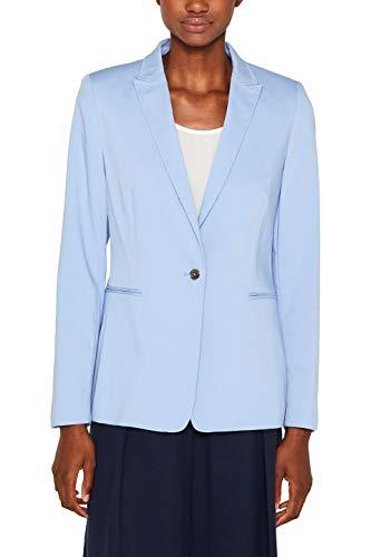 - Knopf-manschette Stretch-blazer (ESPRIT Collection Damen 999Eo1G800 Anzugjacke, Blau (Light Blue 440), Herstellergröße: 38)