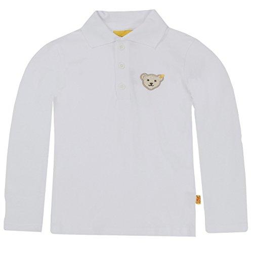 Steiff langärmeliges Polo-Shirt 0006831, unisex, Baby Gr. 86, weiß