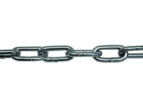 Perel 07502 Chaine pour fixation extérieure de voile en Acier Inoxydable Argenté 4mm x 2mètres