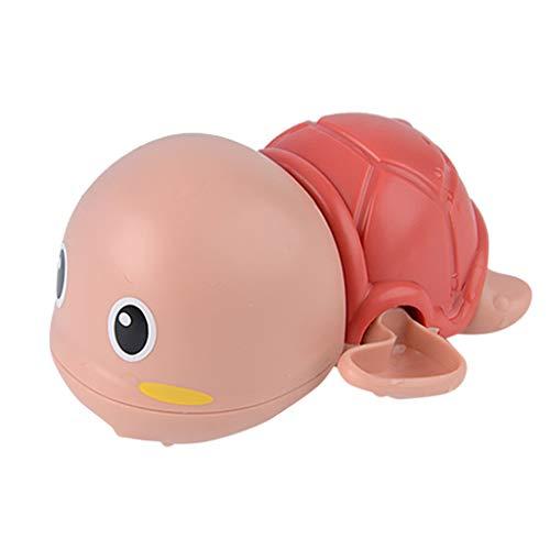 Baby Badespielzeug,Baby Bade Bad Schwimmen schwimmende Badewanne Pool Spielzeug Uhrwerk Schildkröte Schwimmbad Spielzeug für Badewanne Dusche Schwimmbad (Pink)