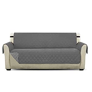 PETCUTE Copripoltrona per divano trapuntato Luxury Extra morbido Tutte le misure Grigio