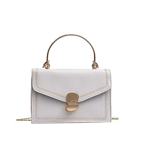 Kuriertaschen Für Damen neue Wild Umhängetasche Fashion One-Shoulder Kleine quadratische Tasche Weiß One Size -