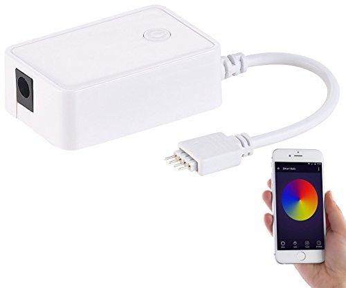 Luminea Alexa-LED-Strip: WLAN-Controller für RGB-LED-Streifen LAC, komp. zu Alexa Voice Service (LED-Streifen für Beleuchtung)