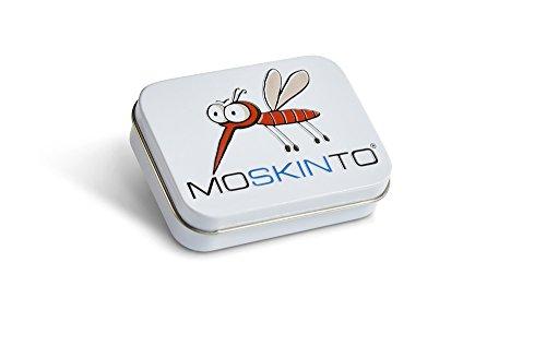 Moskinto Mückenpflaster Familienpackung mit 42 bunten Pflaster in der Dose Juckreiz, Stechmücken, Bremsen, Bienen, Schnaken, Mückenstiche, Bite, Moskito, Stichheiler (Dose) (Jucken Mückenstiche)
