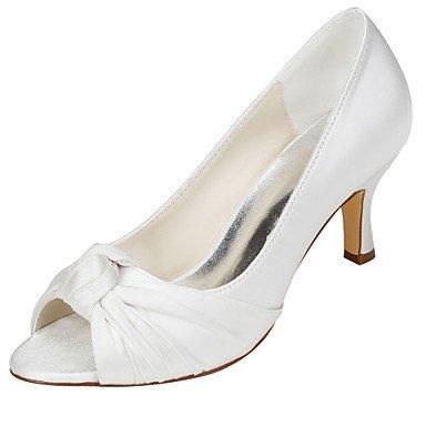 Rtry Femmes Chaussures Pompe Mariage Base Stretch Satin Printemps Eté Fête Mariage & Amp; Soirée Bowknot Stiletto Heelivory Champagne Rougissant Rose Us5.5 / Eu36 / Uk3.5 / Cn35