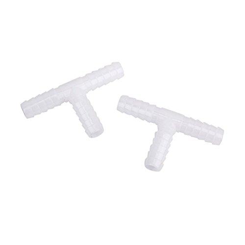 Sonline 2 pezzi 10 millimetri di plastica DC T-connettore tubo spinato falegnami tubo aria acqua