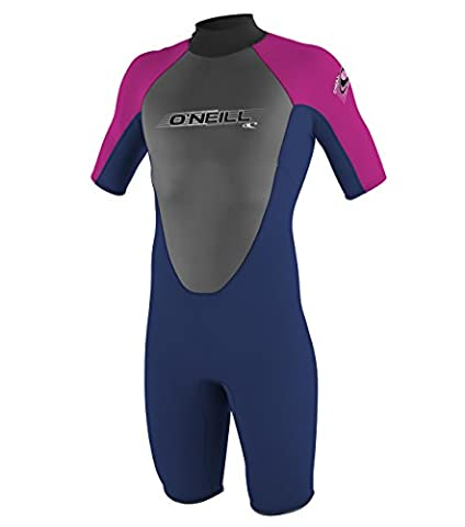 O'Neill Wetsuits Mädchen Neoprenanzug youth reactor 2 mm S/S spring, Navy/PunkPink, 14, 3803-BB4
