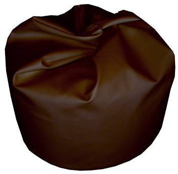 Bean Bag Cover In Brown Faux Leather Large Standard