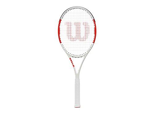 Wilson Damen/Herren-Tennisschläger, All Courter, Profis, Six.One Team 95, Größe 2, rot/weiß, WRT73640U2