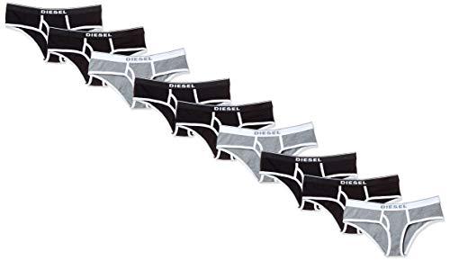 Diesel UFPN-OXY-THREEPACK, Slip Donna, Multicolore (Black/Black/Dark Grey Melange E4372-0Eauf), 40 (Taglia Produttore: Small), Pacco da 3