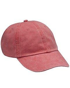 6-panel-garment Washed Twill (Optimum Pigment-Dyed Cap POPPY OS)