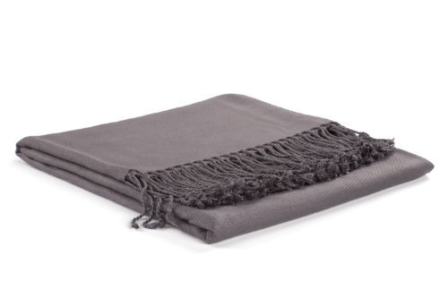 Nine Space Viscose from Bamboo Solid Throw Blanket, Slate, 50 x 70 by Nine Space (Slate Solid)