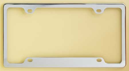 Exposed Corner Frame - Chrome Plated Metal Numberplate Holder for American License Plates (12x6