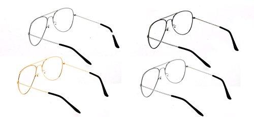 df23307f8d Metal Frame Clear lens Aviator Glasses Metal Vintage Retro Fashion Glasses  Eyewear Unisex