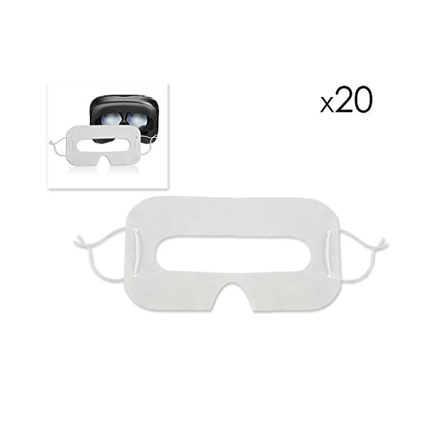 20 Pcs Disposable Eye Mask Hygiene Eye Face Cover Prevent Eye Infections Mask for HTC VIVE VR Headset 31If 2By3lveL