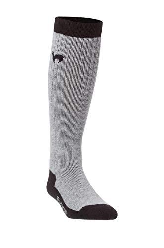APU KUNTUR Alpaka SKI-SOCKEN Damen Herren Stutzen Sport Knie-Strümpfe Jagd-Socke schwarz-grau 39-41