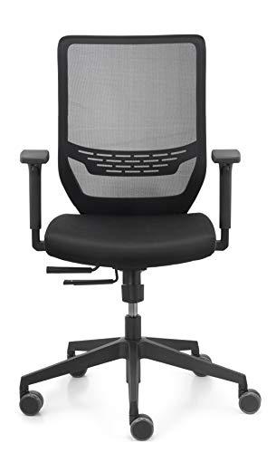 Dauphin Trend Office Valo sync2 Mesh VO 9242 Bürodrehstuhl, Bürostuhl, Schwarz, Flexibel, formschön, Neues Modell (Schwarz Neue)