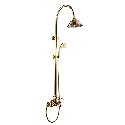 Sdkky-shower Lot, DE DOUCHE pour robinets en cuivre, Doré, style vintage, Handline, maison de baigner, Trim, mince, minimaliste